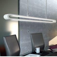 LED-Pendelleuchte in weiß, Licht per Touch regulierbar