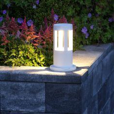 LED-Pollerleuchte 10W in weiß + Gratis Spannungsprüfer