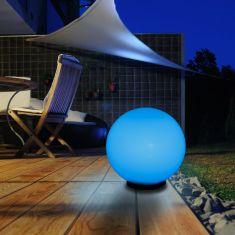 LED-RGB 30cm Kugelleuchte LED-RGB Leuchtmittel mit Fernbedienung