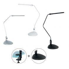 LED-Schreibtischleuchte mit Fuß und Klemme