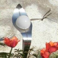 LED-Solar Design Lichtblüte handgeschliffen mit Vollbatt