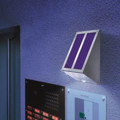 LED-Solar Wandstrahler mit 120° Bewegungsmelder