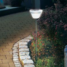LED-Solar- Steckleuchte mit  Echtglas