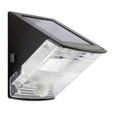 LED-Solar-Wandleuchte mit Sensor in Schwarz