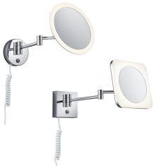 LED-Spiegelleuchte View, rund oder eckig