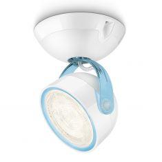 LED-Spot im Retro-Stil aus Kunststoff - Für Wand oder Decke - Inklusive 4 Watt LED - Blau 1x 4 Watt, blau