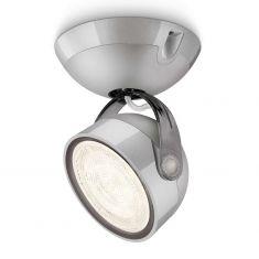 LED-Spot im Retro-Stil aus Kunststoff - Für Wand oder Decke - Inklusive 4 Watt LED - Grau 1x 4 Watt, grau