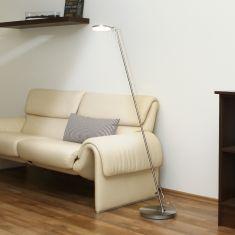 LED-Standleuchte Omega in nickel oder messing