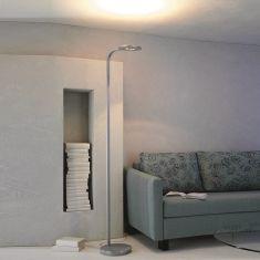 LED-Stehleuchte Eos in Alu geschliffen von Escale
