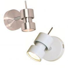 LED-Strahler aus Stahl in 2 Farben, 1-flg.