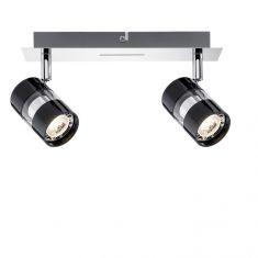 LED-Strahler in Chrom und Schwarz inklusive 2x 3.5W GU10 LED