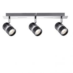 LED-Strahler in Chrom und Schwarz inklusive 3x 3.5W GU10 LED