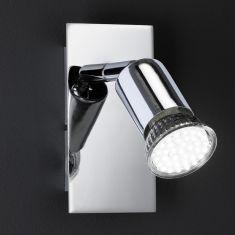 LED-Strahler in Chrom, inklusive 1x GU10, LED-Leuchtmittel, 3500K weißes Licht