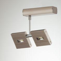 LED-Strahler Metall nickel matt  2x 6,5W LED, schwenkbar