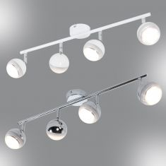 LED-Strahlerserie - Deckenstrahler - 4-flammig - Chrom oder Weiß