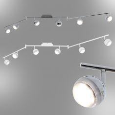 LED-Strahlerserie - Deckenstrahler - 6-flammig - Chrom oder Weiß
