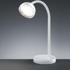 LED-Tischleuchte mit Flexarm, Weiß