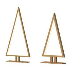 LED-Tischleuchte Pinewood aus Bambus, zwei Größen