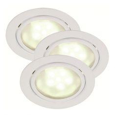 LED-Unterbauleuchten 3er Set in Weiß - 3x 1,2W LED weiß