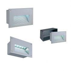 LED-Wandeinbauleuchte IP54, LEDs in warmweiß LED warmweiß