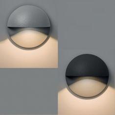 LED-Wandeinbauleuchte Tivoli rund in silber oder schwarz