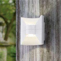 LED-Wandleuchte abgerundet, Up&Down, 2 Oberflächen