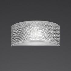 LED-Wandleuchte Alea 3D Folie, halbrund
