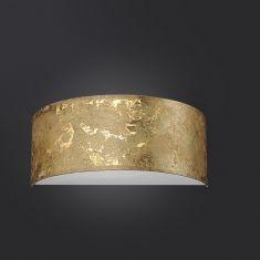 LED-Wandleuchte Alea halbrund - Blattgold gold, Blattgold