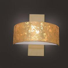 LED-Wandleuchte Alea, Schirm Blattgold - Messing matt / blank