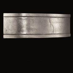 LED-Wandleuchte aus Aluminium in antiker Nickel Oberfläche