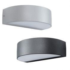 LED-Wandleuchte aus Aluminium - Anthrazit oder Silber