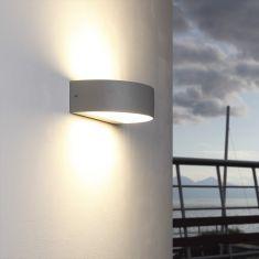 LED-Wandleuchte aus Aluminium - Silber silber, 20,50 cm, 13,00 cm