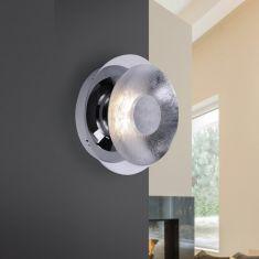 LED-Wandleuchte 17 cm in Blattsilberoptik silber, Blattsilber