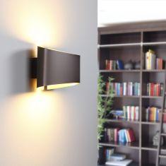 LED-Wandleuchte in Braun von Holtkötter