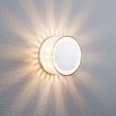 LED-Wandleuchte Chrom matt, transparente Effektfolie