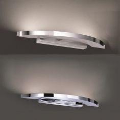 LED-Wandleuchte Clareo abgerundet, in 2 Farben