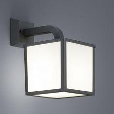 LED-Wandleuchte Cunbango für Außen, eckig, Anthrazit