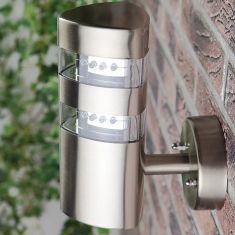 LED-Wandleuchte in Edelstahl, 24 LED á 0,12W