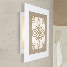 LED-Wandleuchte mit Metall-Ornamentik 4 Farben, 36x40cm