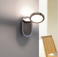 LED-Wandleuchte Stahl/Chrom - 1x 4,6Watt LED