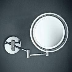 LED-Wand- und Kosmetikspiegel mit 5-fach Vergrößerung
