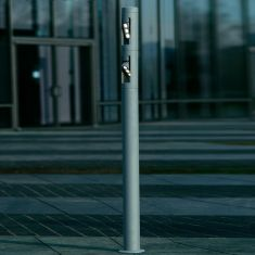 LED-Wegeleuchte in Anthrazit oder Silber - Höhe 157cm - LED 6x3W