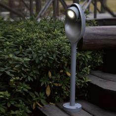 LED-Wegeleuchte mit schwenkbarem Lichtspot, 3x3Watt,