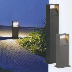 LED-Wegeleuchte, wählbar in 40cm oder 70cm Höhe, in Anthrazit oder Silbergrau, inklusive warmweißer 6 Watt LED, 3000K