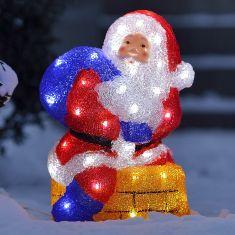 LED-Weihnachtsmann mit Schornstein