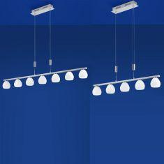 LED-Zugpendelleuchte Centurion, Premium by B-Leuchten Nickel-matt