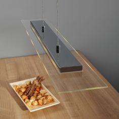 LED-Zugpendelleuchte chrom, Glas, 5-flammig