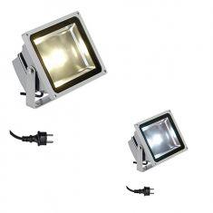Leistungsstarker, schwenkbarer LED-Strahler für den Außenbereich, inklusive 50Watt Flächen-LED - Lichtfarbe wählbar - IP65
