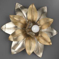 Leuchte für Wand oder Decke Blattsilber antik Florentiner stil