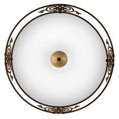 Leuchte im klassischen Landhausstil in antik-braun, 47,5cm 3x 60 Watt, 13,70 cm, 47,50 cm